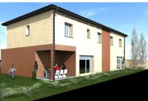 Maisons mitoyennes à étage sur le commune d'Aussone, Haute Garonne