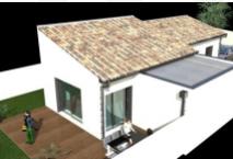 Maison de 80m² de plein pied construite à Cornebarrieu de type 4 pièces